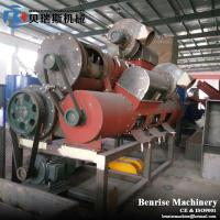 China three shaft capacity 3000kg/h PET bottle label remover/waste plastic bottle recycling machine on sale