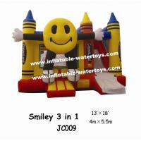 China Commercial Custom 0.55mm PVC Inflatable Combo Bouncers Jump For Fun on sale