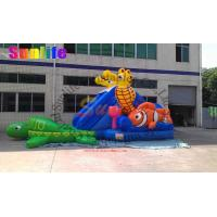 Quality inflatable exciting water pool seahorse slide for sale