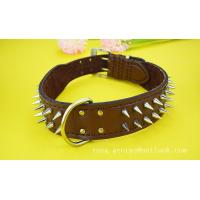 Quality 2015 fashion leather dog collar rivet for sale