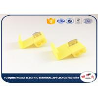 China Quick Connect Wire Terminals 12-10AWG Yellow Color Quick Splice Connector 878201 on sale