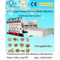 Quality Pneumatic Locking Automatic Lubrication Carton Printing Slotting Machine With Gear Pumps for sale