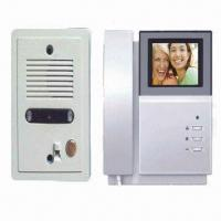 Quality Video Door Phone with 4-inch TFT LCD, Supports 2 Outdoor Stations and Compatible with Commax System for sale