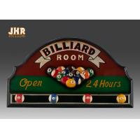Quality Billiard Room Wall Decor Antique Wooden Wall Signs Decorative Wall Plaques Wood Wall Art Signs for sale