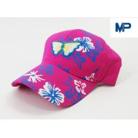 China Girl Mcgrath Logo Embroidered Baseball Caps For Child Or Adult , Customized Size on sale