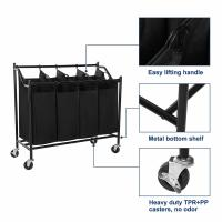 Quality Simplehouseware 4-Bag Heavy Duty Rolling Laundry Sorter Cart, Chrome,laundry baskets,bag factory for sale