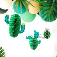 Quality New Cactus Watermelons Shaped Paper Honeycomb Balls Tissue Paper Decorations for sale