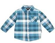 Quality 100% Cotton Printing Woven children plaid t-shirt for boy with fashionable design for sale