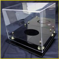Quality 300mm*300mm*200mm pexiglass transparent Custom Acrylic Wine Holder Display Stand for sale