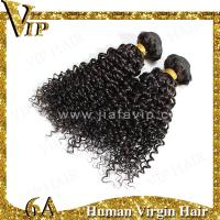 Quality Promotion Top Quality 14inch  black Afro-Curly  100% indian human hair weavings for sale