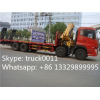 China hot sale best price dongfeng 8x4 LHD 14tons crane truck mounted crane, factory sale price dongfeng 14tons truck crane on sale