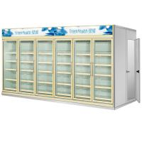 Quality Multi Deck Dairy Glass Door Freezer Electric 50mm Thick For Kitchen for sale