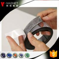 Quality 3M adhesive lamintaed magnetic material soft strong rubber 3M adhesive magnetic strips for sale