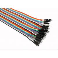 Quality Male To Male Jumper Wires Breadboard And Wire Kit Green Black Yellow White Blue for sale