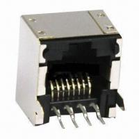 Quality RJ45 connector, 1 x 1 port, low profile with table UP PCB jack for sale