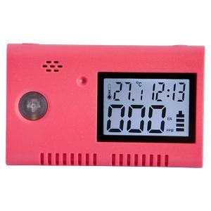 Quality 12V Portable USB Red Carbon Monoxide Alarm CO Detector for Car for sale