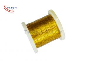China Golden color Silver Plated Copper Wire With Kapton Insulation 7*0.2mm on sale