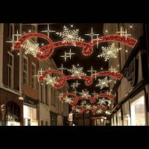 Quality LED 2D Christmas Across Street Decoration Motif Light for sale