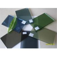 Quality 5 Mm Thickness Dark Green Tinted Glass / Floating Glass Panel For Construction for sale