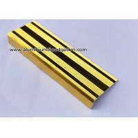 Quality L Shaped Straight Edge Aluminum Stair Nosing With Good Slip Resistance for sale