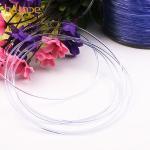 SGS eco-friendly bold clear TPU plastic elastic cord for bra strap