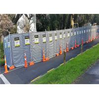 Quality Mobile Noise Barriers 30dB Construction Insulated and Absorption 4'x12' blanket size for sale