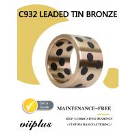 Quality Durable Large Bronze Sleeve Bearings & Bushing Bore Diameter C932 Tin Bronze for sale