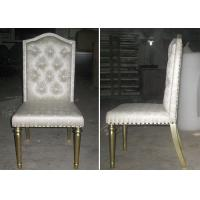 Buy cheap OEM Gold Leaf Fabric Modern Dining Room Chairs With Button - Tufted from Wholesalers