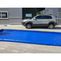 Quality Flexible Blue Car Wash Mats Water Containment Printing Double - Tripple Stitch for sale