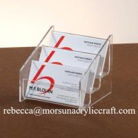 Quality Pure High Grade 3 Tiers Acrylic Note Holder PMMA Name Card Holder Memo Holder for sale