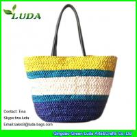 Quality Colorful Lady Cornhusk Straw Bags for sale