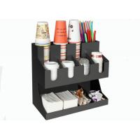 China Restaurant Paper Cup Holder Stand Acrylic Tissue Straw Box Storage Rack on sale