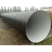 Quality 3PE Coated Mild Steel Submerged Arc Welding Spiral Steel Pipe With A53 Grade B Material for sale