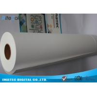 Quality Inkjet Matte Water Resistant Polyester Fabric Roll 220Gsm For Pigment Digital Printing for sale