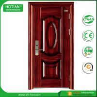 China Cheap main metal glass steel structure building material steel door main gate designs on sale