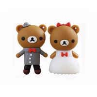 cartoon bear pendrive bride groom pen drive 4gb usb flash drive  memory stick wedding gift