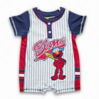 Quality Baby's Romper, Made of 60% Cotton 40% Polyester Single Jersey, Suitable for 3 to 24 Months Childrens for sale