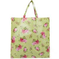 Quality Handled Reusable Woven Shopping Bags / Heat Transfer Woven Cotton Tote Bag for sale