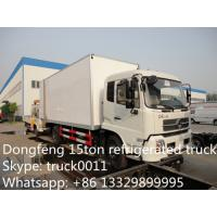 Quality dongfeng tianjin 4*2 LHD15ton cold room truck for sale, best price 190hp diesel 15tons refrigerated van truck for sale for sale