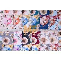 Quality Soft Velvet 100% Polyester Upholstery Fabric Waterproof Flower Printing 143 cm for sale