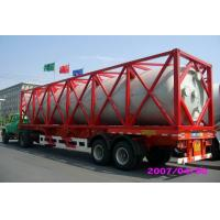 Quality High Strength Stainless Steel 40ft ISO Liquid Tank Container For Chemical Shipping for sale