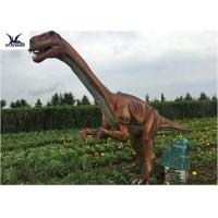 Outside Zoo Park Decorative Realistic Dinosaur Statues Water And Smoke Spraying