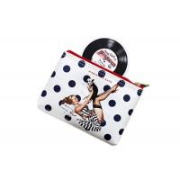 Quality Cartoon Travel Toiletry Bag / PU Leather Ladies Clutch Bag Silk Printed for sale