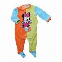 Quality Babies' Romper, Made of 80% Cotton, 20% Polyester Velous, Size Range from 3 to 12-month for sale