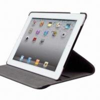 China Rotating Leather Case for New iPad, with Car Holder on sale