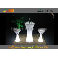 Outdoor / Indoor illuminated LED Cocktail Table Built-in rechargeable battery