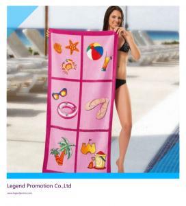 Quality Custom printed promotional beach towel / bath towel for sale