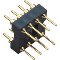 China 2.54mm IC Socket Connector  for card type PCB plate Min 100 cycles Gold/Flash on sale