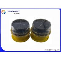 China Solar Powered Aircraft Warning Light On Towers Vibrations And UV Protection on sale