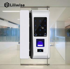 Glass Door Fingerprint Front Door Lock Touch Screen Password Code RFID Card Keyless